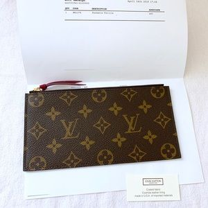 Louis Vuitton Felicie Monogram Zip Pouch Wallet